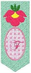 Bookmark T embroidery design