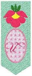 Bookmark U embroidery design
