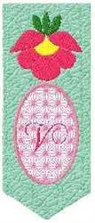 Bookmark V embroidery design