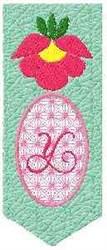 Bookmark Y embroidery design