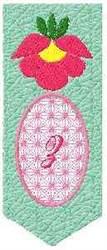 Bookmark Z embroidery design