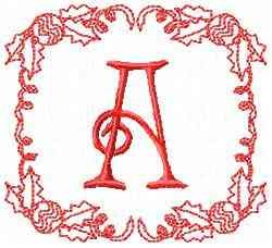 Christmas A embroidery design