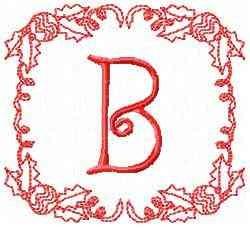 Christmas B embroidery design