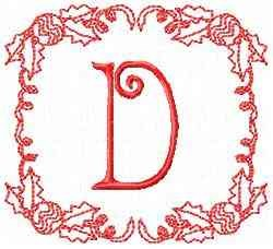 Christmas D embroidery design