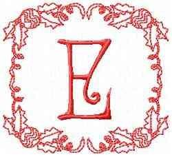 Christmas E embroidery design