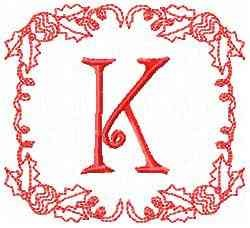 Christmas K embroidery design
