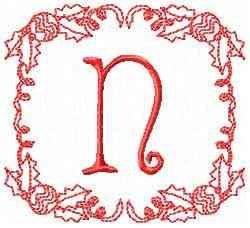 Christmas N embroidery design