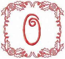 Christmas O embroidery design