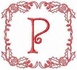 Christmas P embroidery design