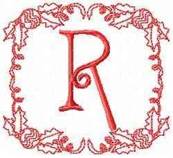 Christmas R embroidery design