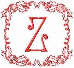 Christmas Z embroidery design