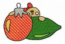 Gingerbread Man and Ornament embroidery design