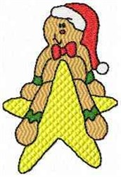 Star Gingerbread Man embroidery design