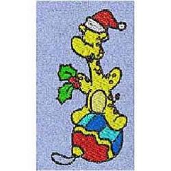 Ornament Giraffe embroidery design