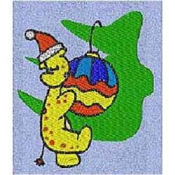 Christmas Giraffe embroidery design