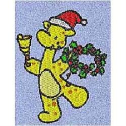 Holly Wreath Giraffe embroidery design