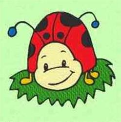 Leaf Ladybug embroidery design