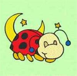Sleepy Ladybug embroidery design