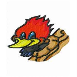 Woodpecker Cartoon embroidery design