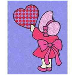 Valentine Girl embroidery design