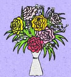 Bouquet Flowers embroidery design