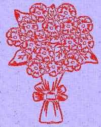 Redwork Bouquet embroidery design