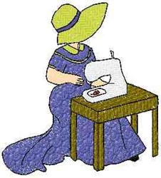 Sewing Woman embroidery design