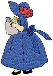 Grocery Woman embroidery design