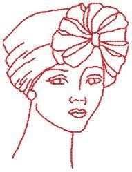 Redwork Fashion Hat embroidery design