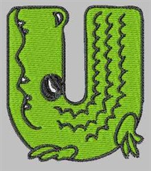 Critter Font U embroidery design
