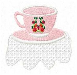 Floral Mug embroidery design