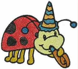 Party Ladybug embroidery design