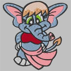 Belly Dancing Elephant embroidery design