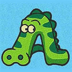 Animal A embroidery design