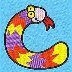 Animal C embroidery design
