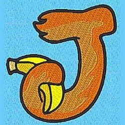 Animal J embroidery design