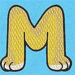 Animal M embroidery design