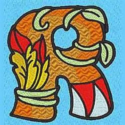 Animal R embroidery design