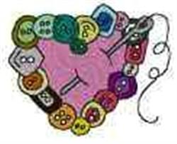 Button Heart embroidery design