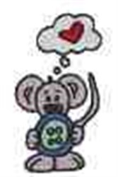 Mouse Button embroidery design