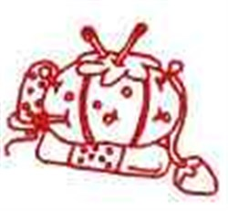 Redwork Pin Cushion embroidery design