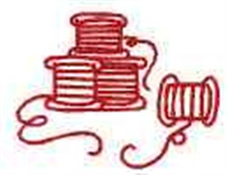 Redwork Spools of Thread embroidery design