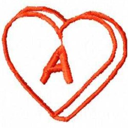 Heart A embroidery design