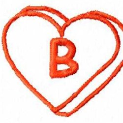 Heart B embroidery design