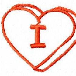 Heart I embroidery design