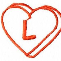 Heart L embroidery design