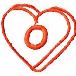 Heart O embroidery design