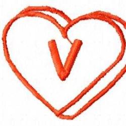 Heart V embroidery design