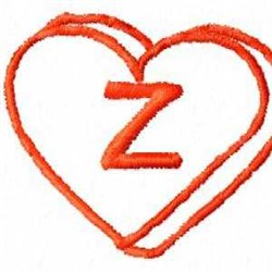 Heart Z embroidery design