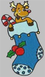 Deer Stocking embroidery design